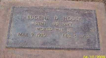 HOUSE, EUGENE D. - Pinal County, Arizona | EUGENE D. HOUSE - Arizona Gravestone Photos