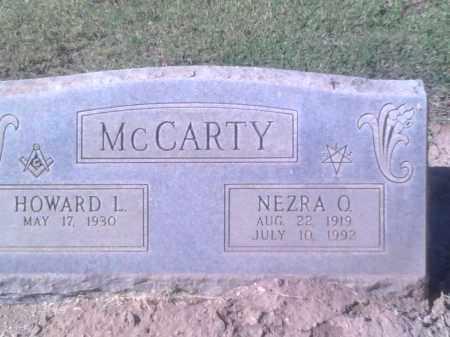 MCCARTY, HOWARD L. - Pinal County, Arizona   HOWARD L. MCCARTY - Arizona Gravestone Photos