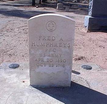 HUMPHREYS, FRED A. - Pinal County, Arizona | FRED A. HUMPHREYS - Arizona Gravestone Photos