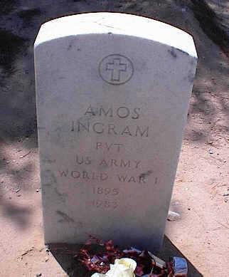 INGRAM, AMOS - Pinal County, Arizona | AMOS INGRAM - Arizona Gravestone Photos