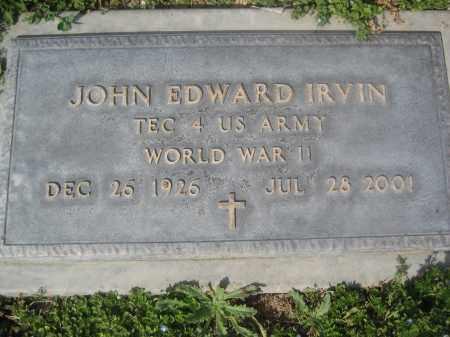 IRVIN, JOHN EDWARD - Pinal County, Arizona | JOHN EDWARD IRVIN - Arizona Gravestone Photos