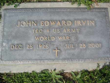IRVIN, JOHN EDWARD - Pinal County, Arizona | JOHN EDWARD IRVIN - Arizona Gravestone Photos
