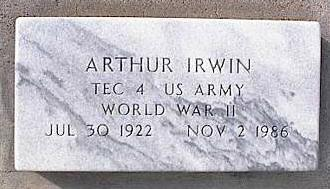 IRWIN, ARTHUR - Pinal County, Arizona | ARTHUR IRWIN - Arizona Gravestone Photos