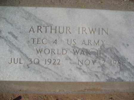 IRWIN, ARTHUR - Pinal County, Arizona | ARTHUR IRWIN - Arizona Gravestone Photos