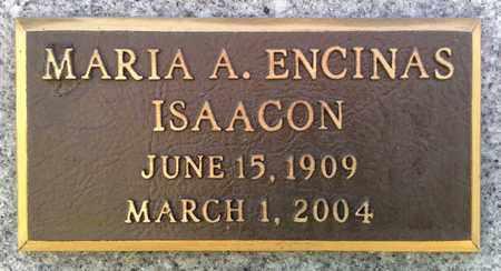 ISAACSON, MARIA - Pinal County, Arizona | MARIA ISAACSON - Arizona Gravestone Photos