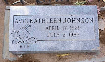 JOHNSON, AVIS KATHLEEN - Pinal County, Arizona | AVIS KATHLEEN JOHNSON - Arizona Gravestone Photos