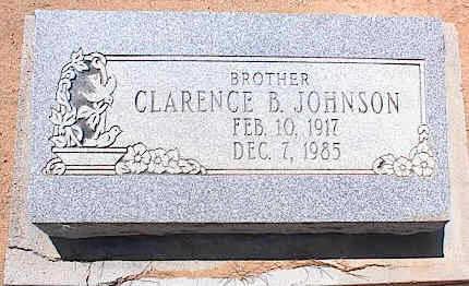 JOHNSON, CLARENCE B. - Pinal County, Arizona   CLARENCE B. JOHNSON - Arizona Gravestone Photos