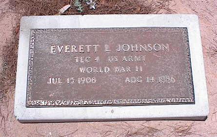 JOHNSON, EVERETT L. - Pinal County, Arizona | EVERETT L. JOHNSON - Arizona Gravestone Photos