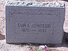 JOHNSON, EVA E. - Pinal County, Arizona | EVA E. JOHNSON - Arizona Gravestone Photos