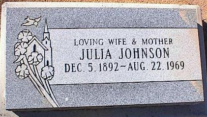 JOHNSON, JULIA - Pinal County, Arizona | JULIA JOHNSON - Arizona Gravestone Photos