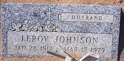 JOHNSON, LEROY - Pinal County, Arizona | LEROY JOHNSON - Arizona Gravestone Photos