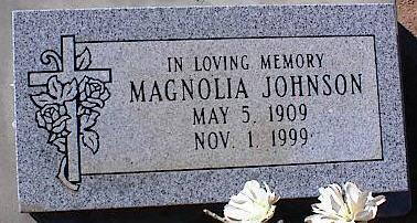 JOHNSON, MAGNOLIA - Pinal County, Arizona | MAGNOLIA JOHNSON - Arizona Gravestone Photos