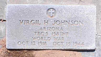 JOHNSON, VIRGIL H. - Pinal County, Arizona | VIRGIL H. JOHNSON - Arizona Gravestone Photos