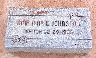 JOHNSTON, NINA MARIE - Pinal County, Arizona | NINA MARIE JOHNSTON - Arizona Gravestone Photos