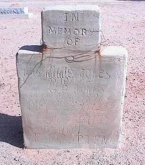 WHITE JONES, MIMIE - Pinal County, Arizona   MIMIE WHITE JONES - Arizona Gravestone Photos