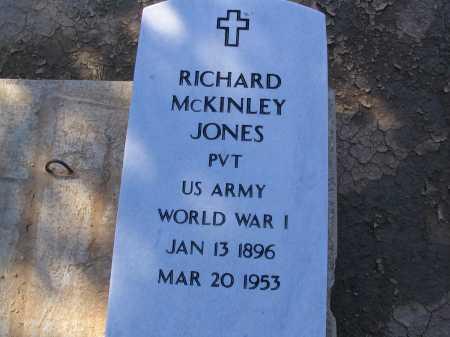 JONES, RICHARD MCKINLEY - Pinal County, Arizona | RICHARD MCKINLEY JONES - Arizona Gravestone Photos