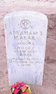 KAKAR, ABRAHAM S. - Pinal County, Arizona   ABRAHAM S. KAKAR - Arizona Gravestone Photos