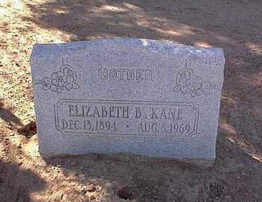 KANE, ELIZABETH B. - Pinal County, Arizona | ELIZABETH B. KANE - Arizona Gravestone Photos