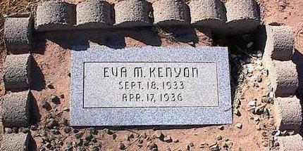 KENYON, EVA M. - Pinal County, Arizona | EVA M. KENYON - Arizona Gravestone Photos