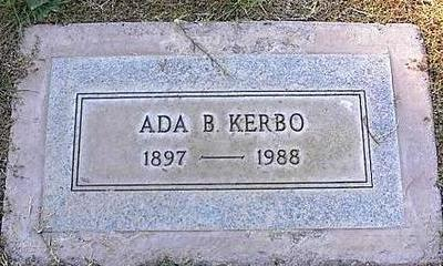 KERBO, ADA B. - Pinal County, Arizona | ADA B. KERBO - Arizona Gravestone Photos