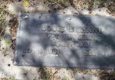 KINNE, LOUIE E. - Pinal County, Arizona | LOUIE E. KINNE - Arizona Gravestone Photos