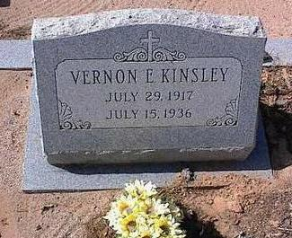 KINSLEY, VERNON E. - Pinal County, Arizona | VERNON E. KINSLEY - Arizona Gravestone Photos