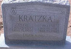 KRATZKA, GUSTAV - Pinal County, Arizona | GUSTAV KRATZKA - Arizona Gravestone Photos