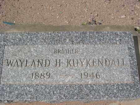 KUYKENDALL, WAYLAND H. - Pinal County, Arizona | WAYLAND H. KUYKENDALL - Arizona Gravestone Photos