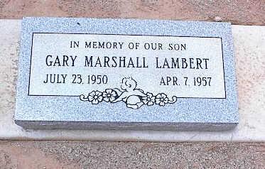 LAMBERT, GARY MARSHALL - Pinal County, Arizona   GARY MARSHALL LAMBERT - Arizona Gravestone Photos