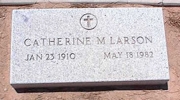 LARSON, CATHERINE M. - Pinal County, Arizona | CATHERINE M. LARSON - Arizona Gravestone Photos
