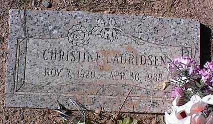 LAURIDSEN, CHRISTINE - Pinal County, Arizona   CHRISTINE LAURIDSEN - Arizona Gravestone Photos