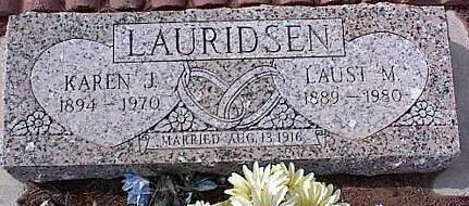 LAURIDSEN, KAREN J. - Pinal County, Arizona | KAREN J. LAURIDSEN - Arizona Gravestone Photos