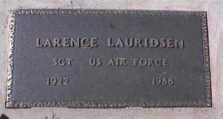 LAURIDSEN, LARENCE - Pinal County, Arizona | LARENCE LAURIDSEN - Arizona Gravestone Photos
