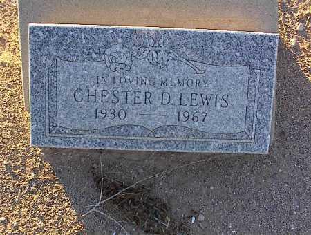 LEWIS, CHESTER D. - Pinal County, Arizona | CHESTER D. LEWIS - Arizona Gravestone Photos