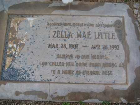 LITTLE, ZELLA MAE - Pinal County, Arizona | ZELLA MAE LITTLE - Arizona Gravestone Photos