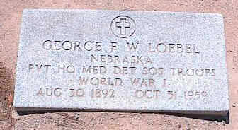 LOEBEL, GEORGE F. W. - Pinal County, Arizona   GEORGE F. W. LOEBEL - Arizona Gravestone Photos