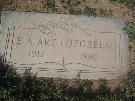 LOFGREEN, E.A ART - Pinal County, Arizona   E.A ART LOFGREEN - Arizona Gravestone Photos