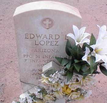 LOPEZ, EDWARD E. - Pinal County, Arizona   EDWARD E. LOPEZ - Arizona Gravestone Photos