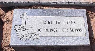 LOPEZ, LORETTA - Pinal County, Arizona | LORETTA LOPEZ - Arizona Gravestone Photos