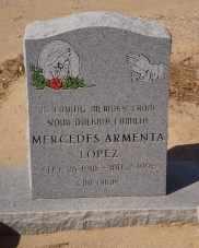 ARMENTA LOPEZ, MERCEDES - Pinal County, Arizona | MERCEDES ARMENTA LOPEZ - Arizona Gravestone Photos