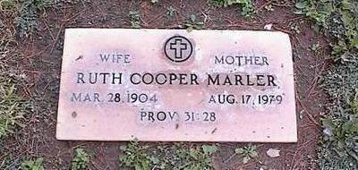 COOPER MARLER, RUTH - Pinal County, Arizona | RUTH COOPER MARLER - Arizona Gravestone Photos