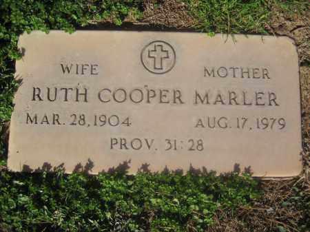 MARLER, RUTH COOPER - Pinal County, Arizona | RUTH COOPER MARLER - Arizona Gravestone Photos