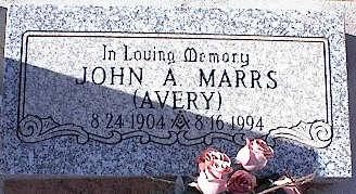 MARRS, JOHN A. [AVERY] - Pinal County, Arizona | JOHN A. [AVERY] MARRS - Arizona Gravestone Photos