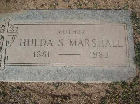 MARSHALL, HULDA S. - Pinal County, Arizona | HULDA S. MARSHALL - Arizona Gravestone Photos