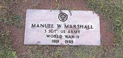 MARSHALL, MANUEL W. - Pinal County, Arizona | MANUEL W. MARSHALL - Arizona Gravestone Photos