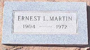 MARTIN, ERNEST L. - Pinal County, Arizona | ERNEST L. MARTIN - Arizona Gravestone Photos