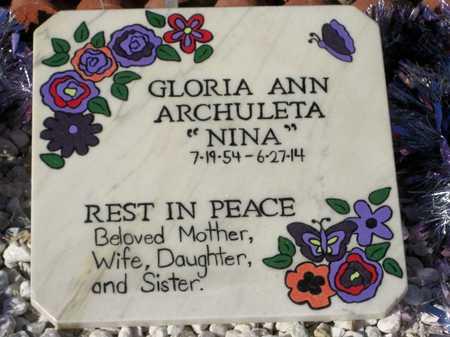 "ARCHULETA MARTINEZ, GLORIA ""NINA"" - Pinal County, Arizona | GLORIA ""NINA"" ARCHULETA MARTINEZ - Arizona Gravestone Photos"