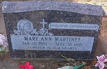 MARTINEZ, MARY ANN - Pinal County, Arizona | MARY ANN MARTINEZ - Arizona Gravestone Photos