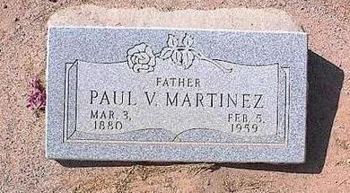 MARTINEZ, PAUL V. - Pinal County, Arizona | PAUL V. MARTINEZ - Arizona Gravestone Photos