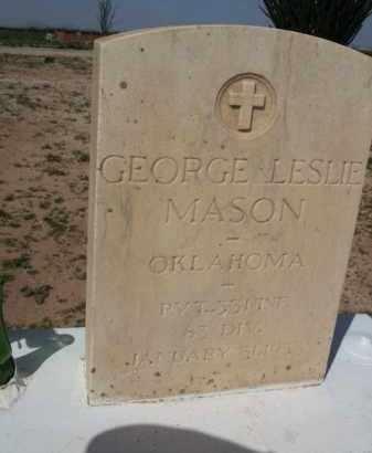MASON, GEORGE LESLIE - Pinal County, Arizona   GEORGE LESLIE MASON - Arizona Gravestone Photos